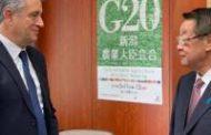 Etchevehere se reunió con el ministro de Agricultura de Japón