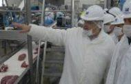 Visitó el primer frigorífico de carne vacuna en obtener el Sello Alimentos Argentinos
