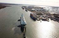 Desde el CGPBB partió el buque contratado para realizar la primera exportación de Gas Natural Licuado de la historia argentina.