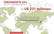 Crecieron un 65% las exportaciones  de carne a China